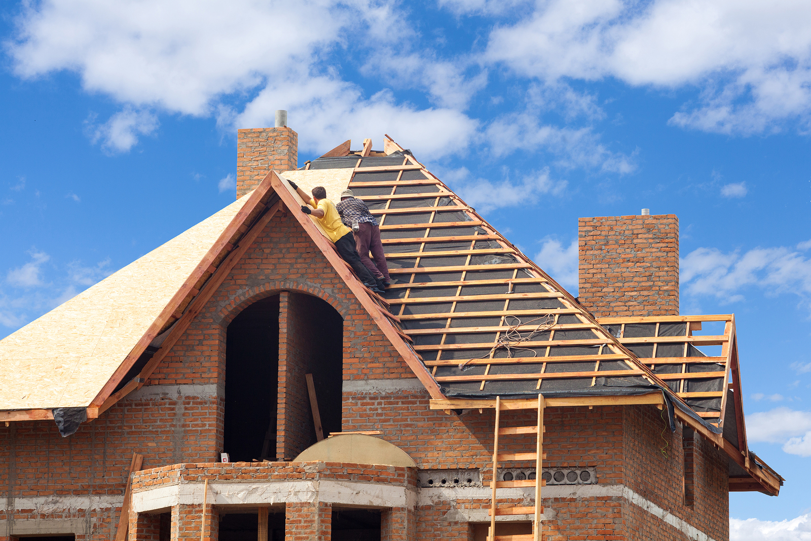 New home construction roofing contractors roof estimates for House roof construction
